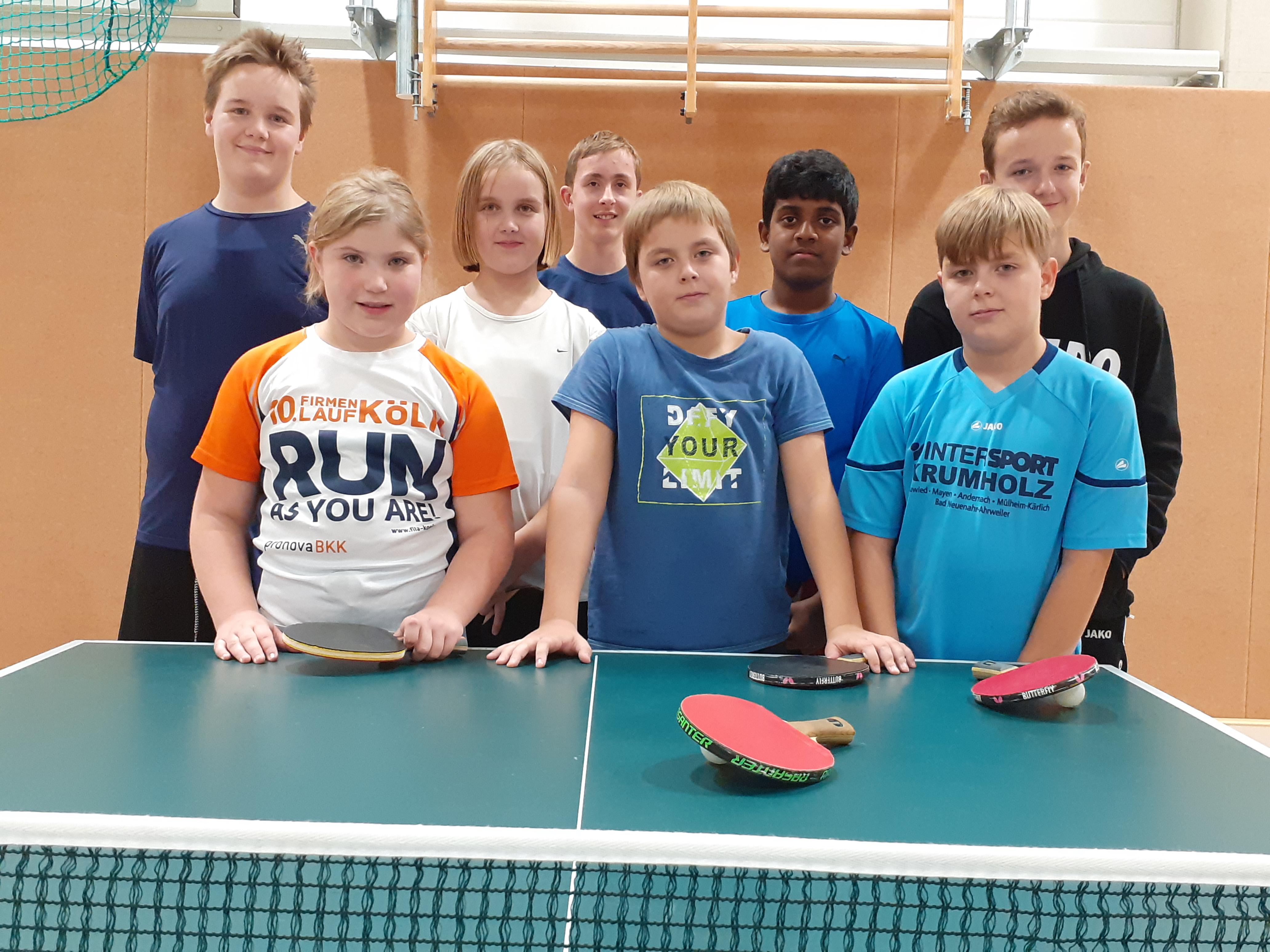 SFA Schülermannschaft Tischtennis